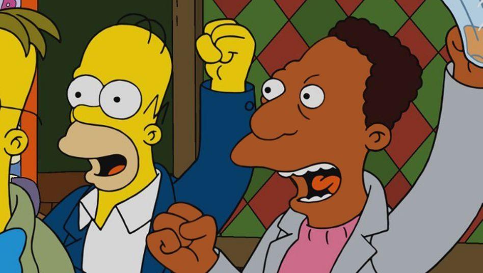 Homer Simpson und Carl Carlson (r.) arbeiten in der Serie gemeinsam in einem Kernkraftwerk