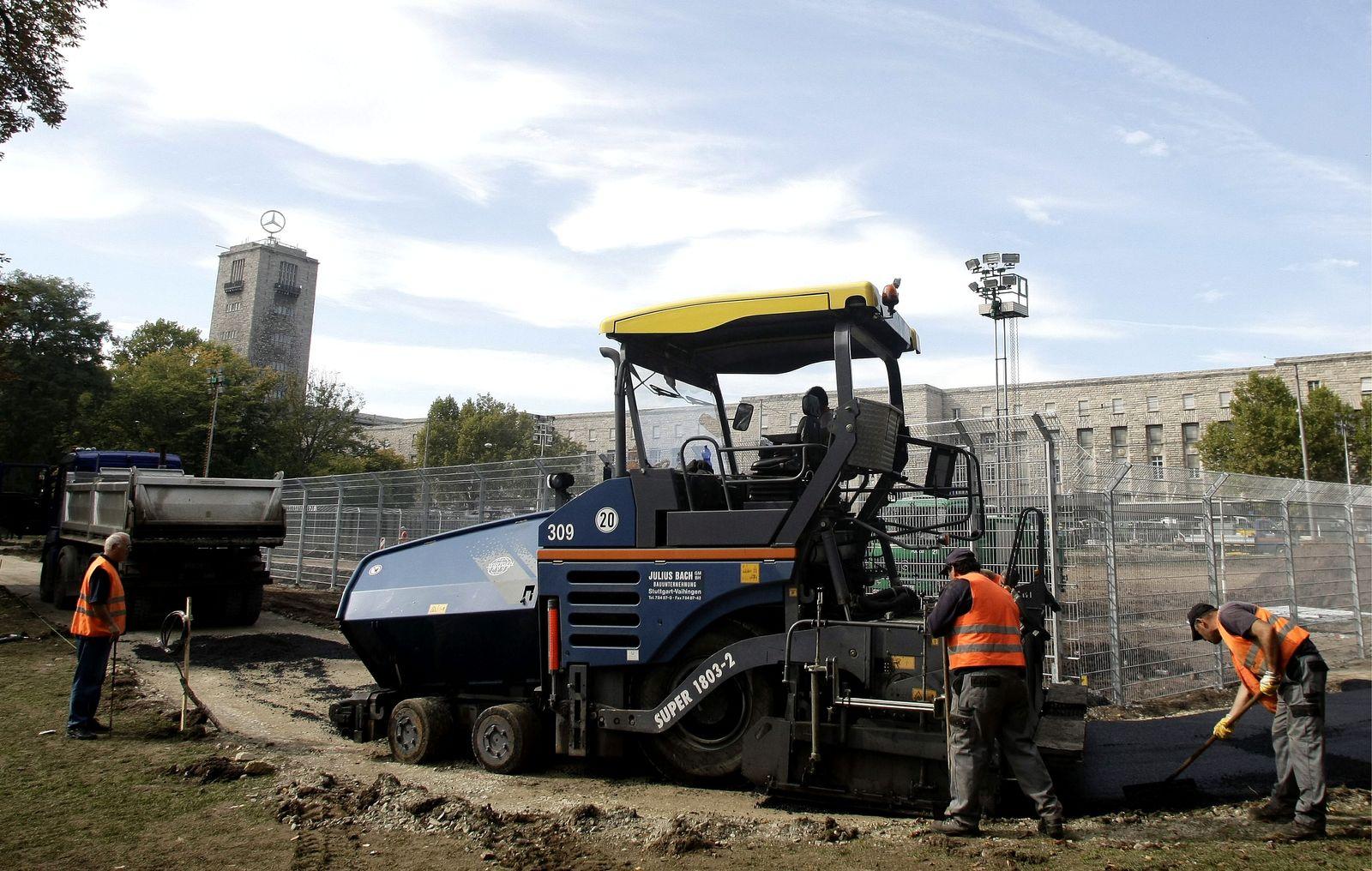 NICHT VERWENDEN Stuttgart 21 / Bauarbeiten