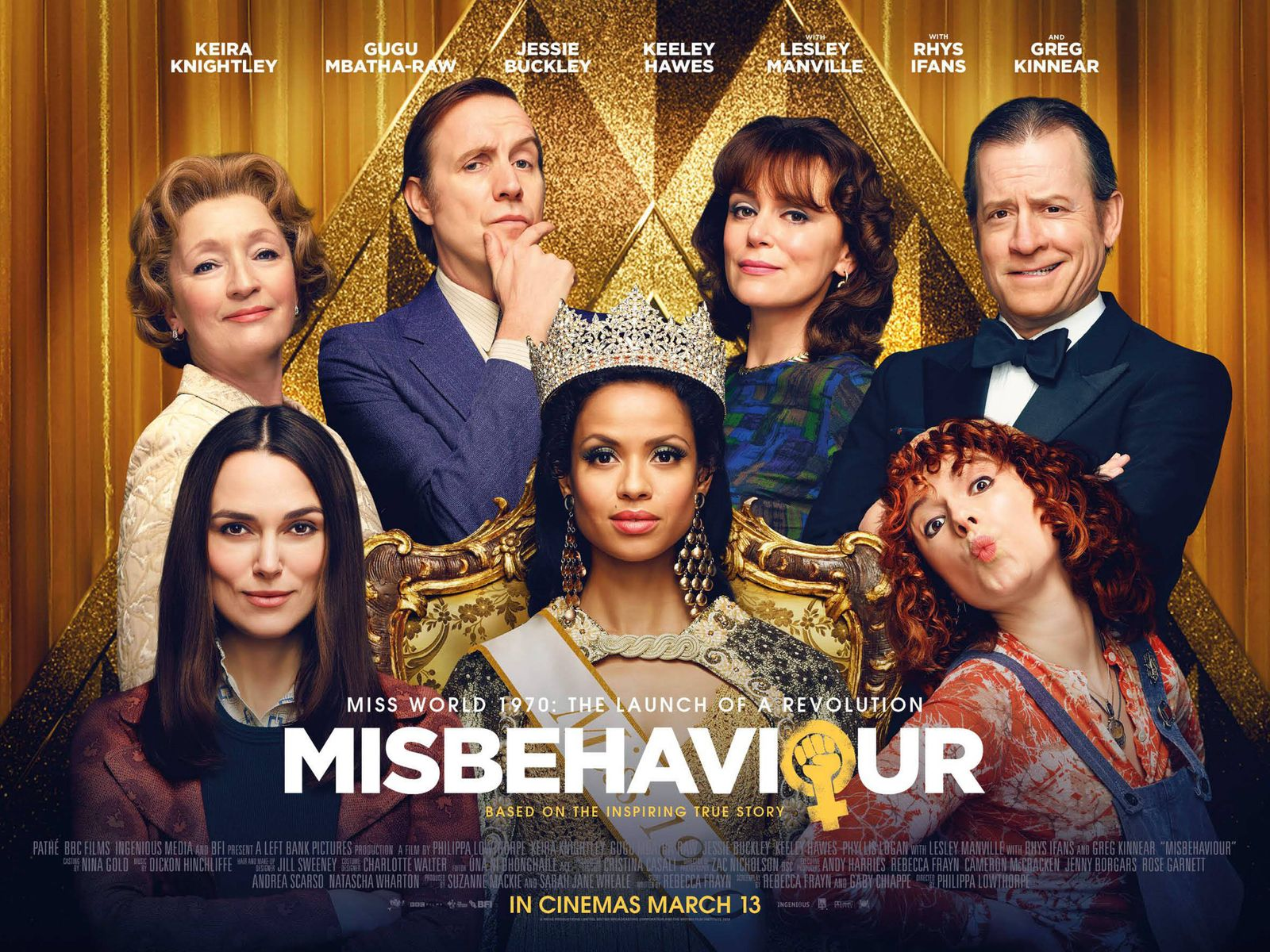 MISBEHAVIOUR 2020 de Philippa Lowthorpe Keira Knightley Gugu Mbatha-Raw Greg Kinnear Jessie Buckley Rhys Ifans. Pathe -