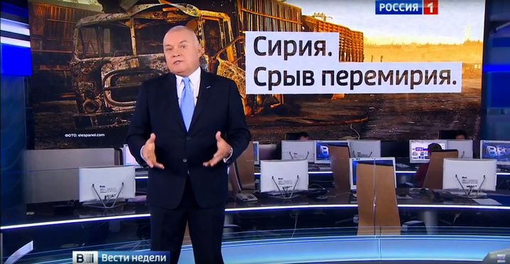 """Dmitrij Kisseljow in der Nachrichtensendung """"Westi Nedeli"""""""