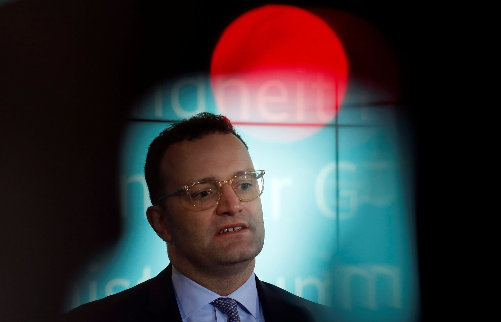 German Health Minister Jens Spahn gives a statement in Berlin