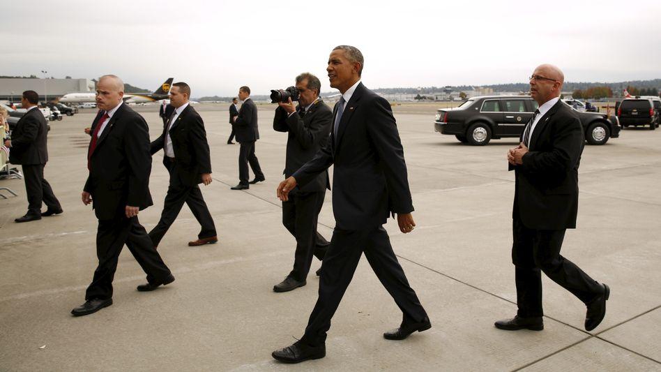 Barack Obama und der Secret Service (Archivbild)
