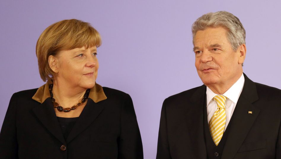 Merkel and Gauck are both from former East Germany.