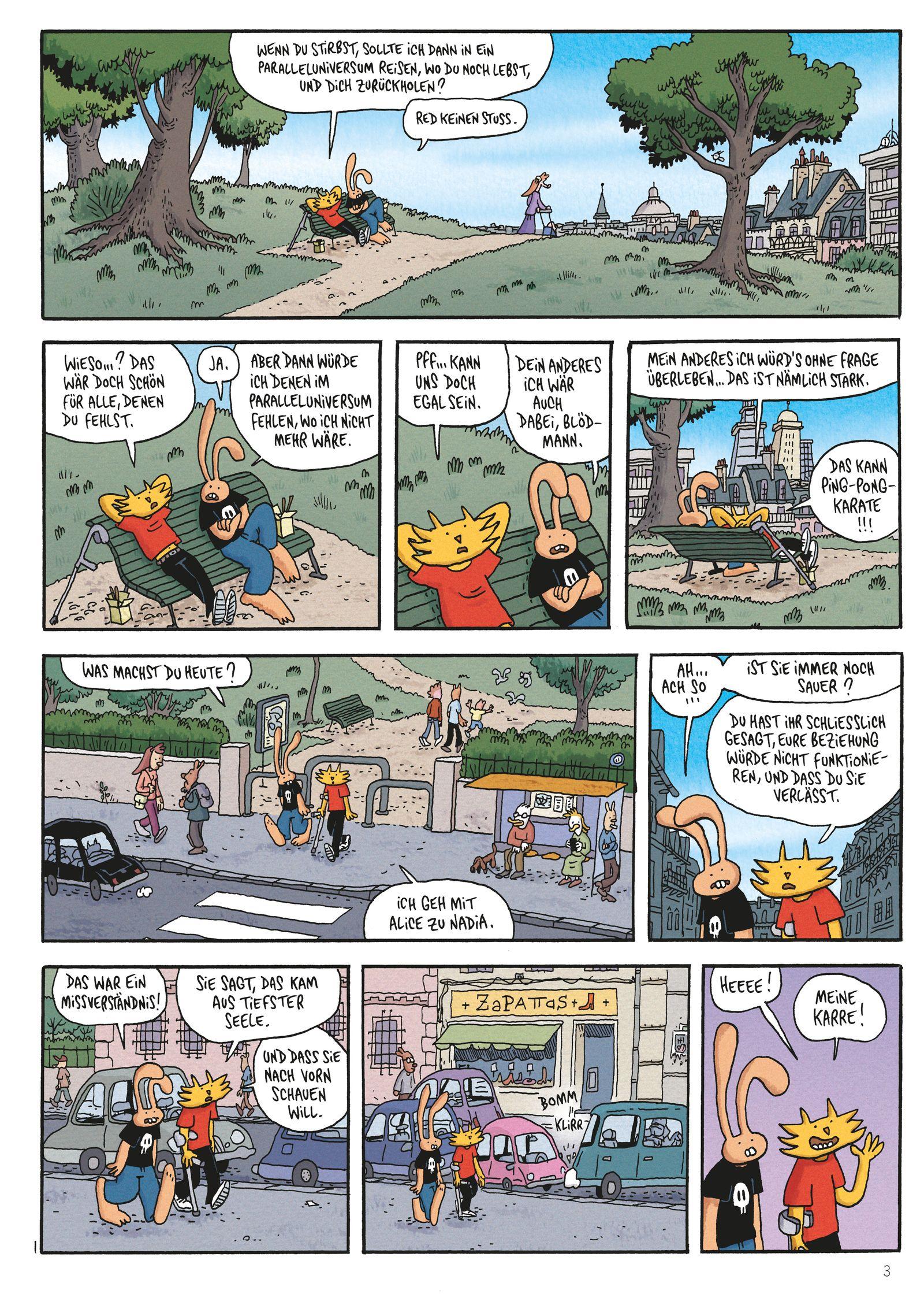 EINMALIGE VERWENDUNG Comictipps/ Lewis Trondheim: Die neuen Abenteuer von Herrn Hase 1: Eine etwas bessere Welt