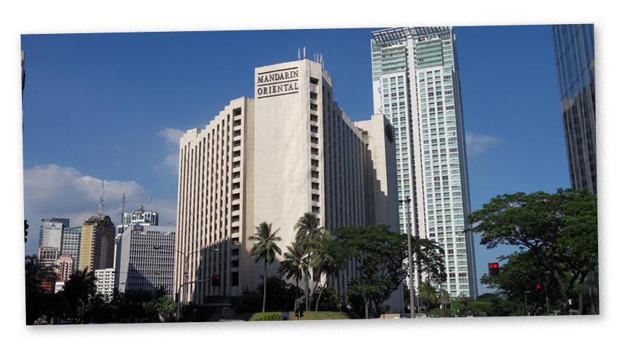 In diesem Hotel in Manila fand die Befragung statt: Würde der Entlastungszeuge kommen?