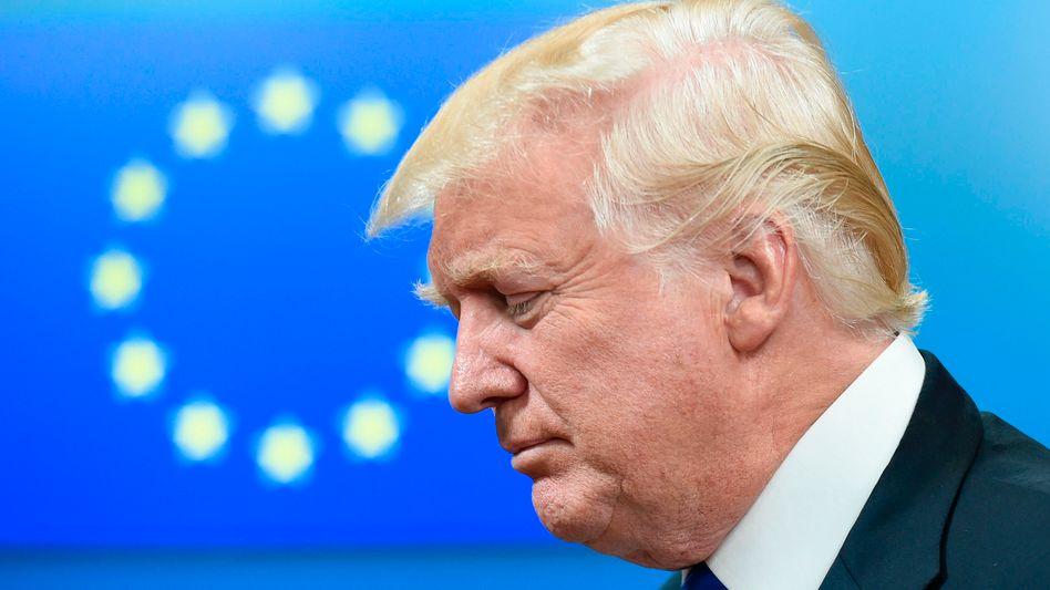 US-Präsident Trump nach Treffen mit EU-Vertretern in Brüssel