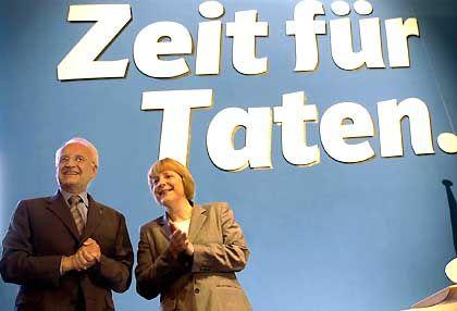 Fehlende Ost-Kompetenz: Merkel und Stoiber