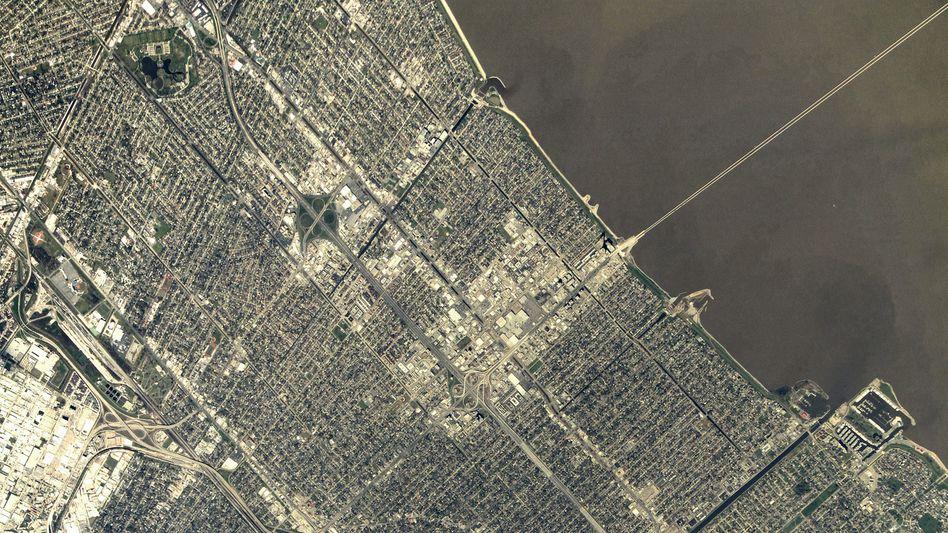 """New Orleans von der ISS aus gesehen: Bis heute von """"Katrina"""" gezeichnet"""