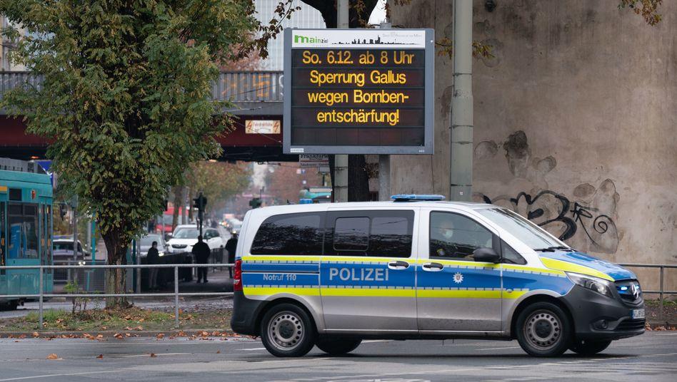 Im Frankfurter Gallusviertel wurde am Sonntag eine Bombe entschärft