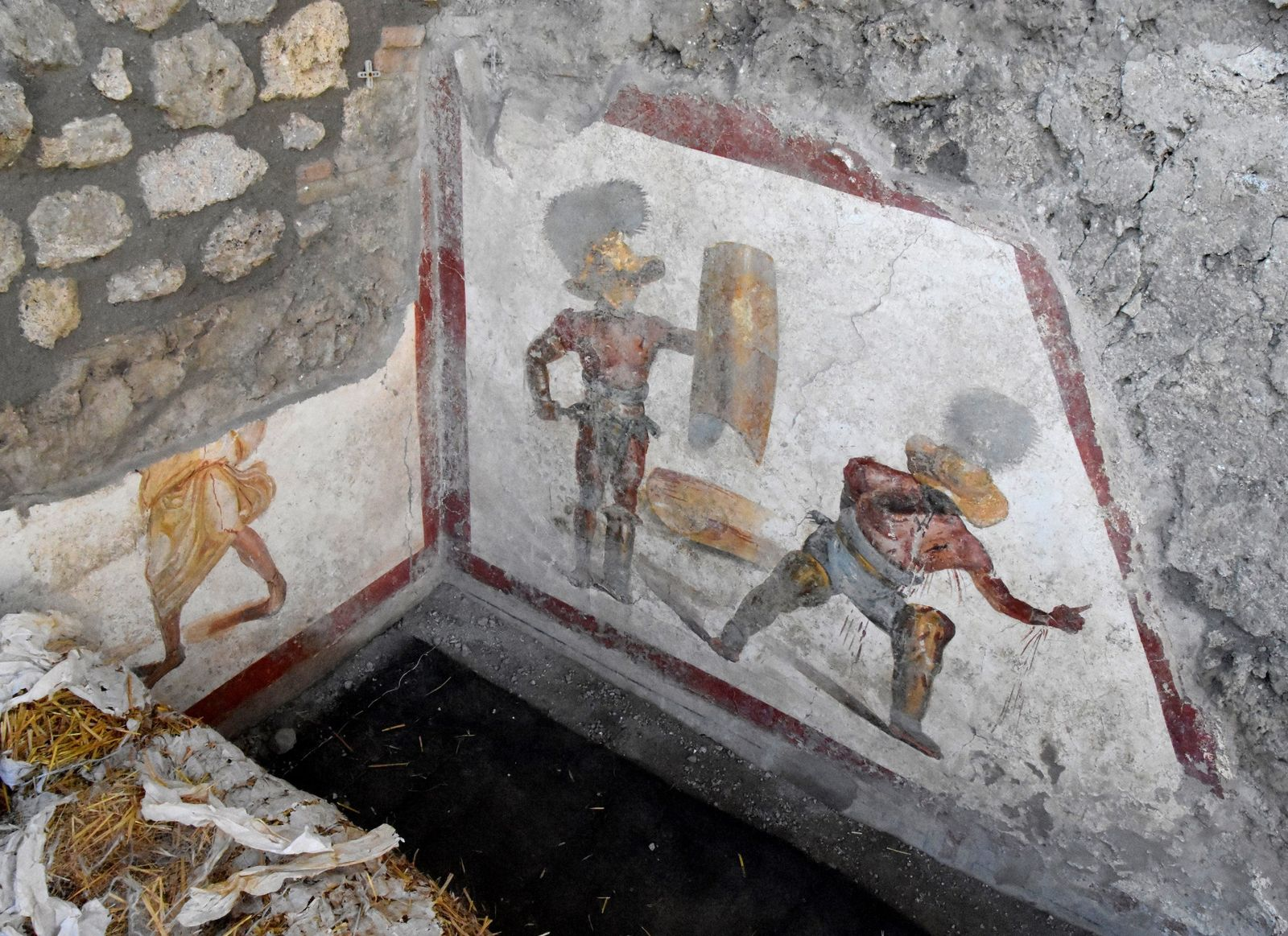 Gladiatoren-Fresko in Pompeji entdeckt