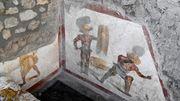 Archäologen entdecken Gladiatoren-Fresko in Pompeji