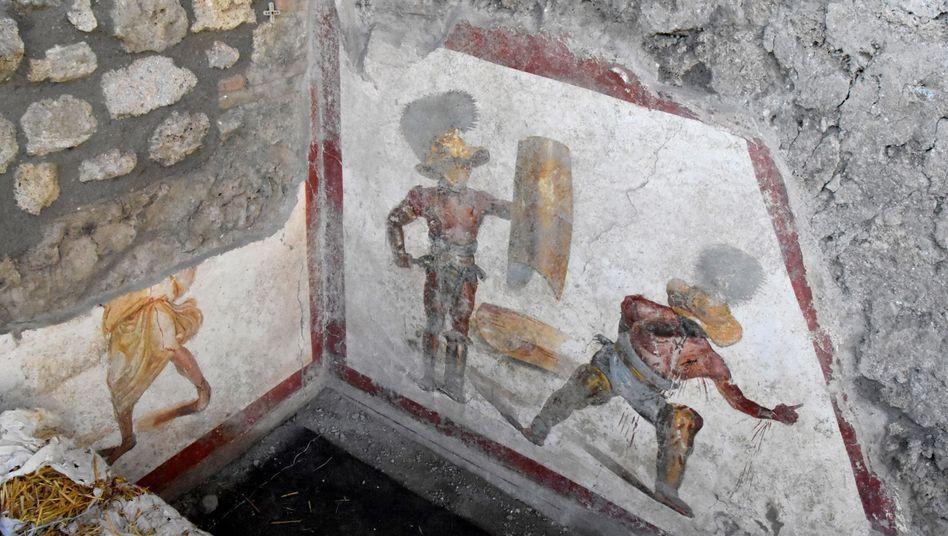 Fresko aus Pompeji: Bitte um Gnade