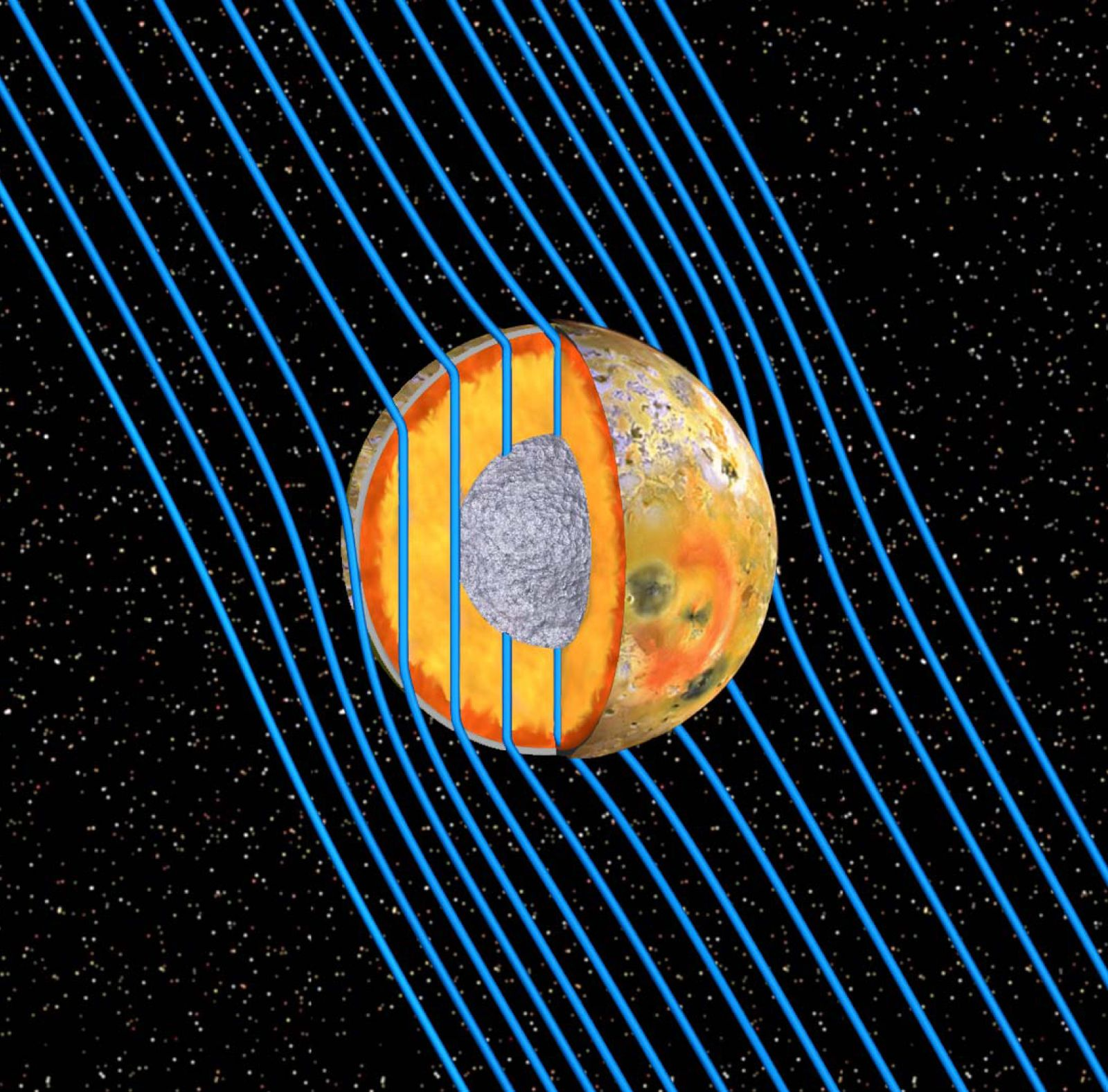 NICHT VERWENDEN Jupitermond Io / Magma Ozean