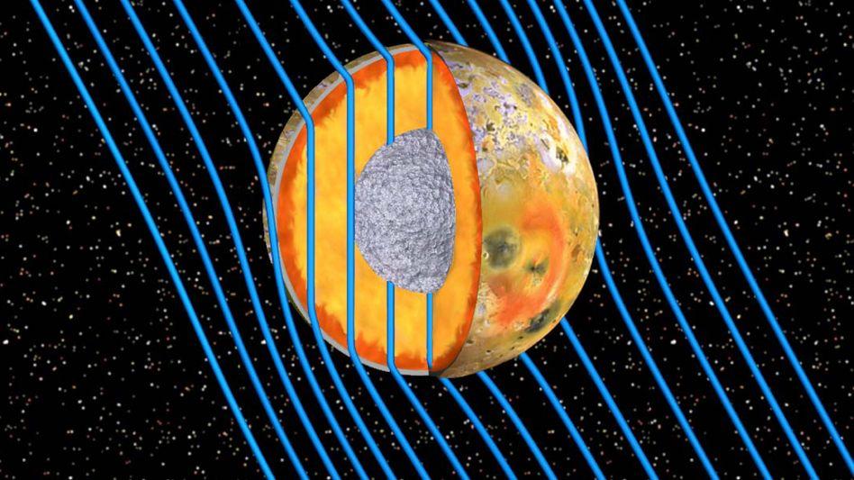 """Magma-Ozean auf Io (grafische Darstellung): """"Bislang fehlte ein direkter Beweis."""""""