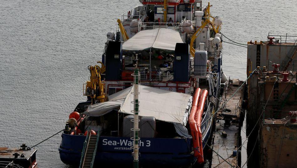 Die Sea-Watch 3 im Hafen von Valletta