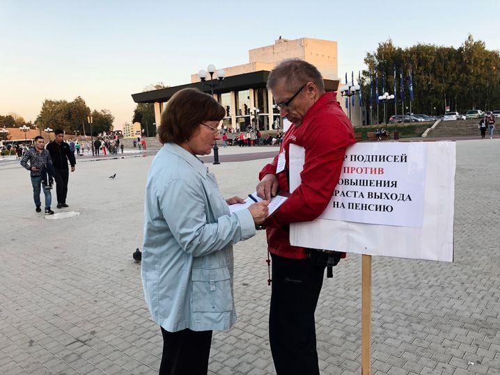Gegnerin von Putins Rentenreform in Wladimir