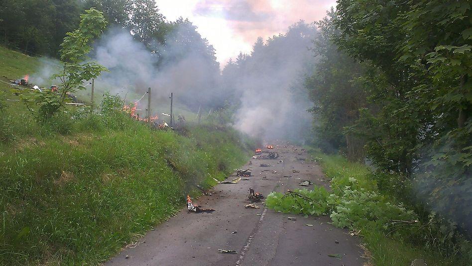 Flugzeugabsturz im Sauerland: Mindestens ein Toter bei Abfangübung der Luftwaffe