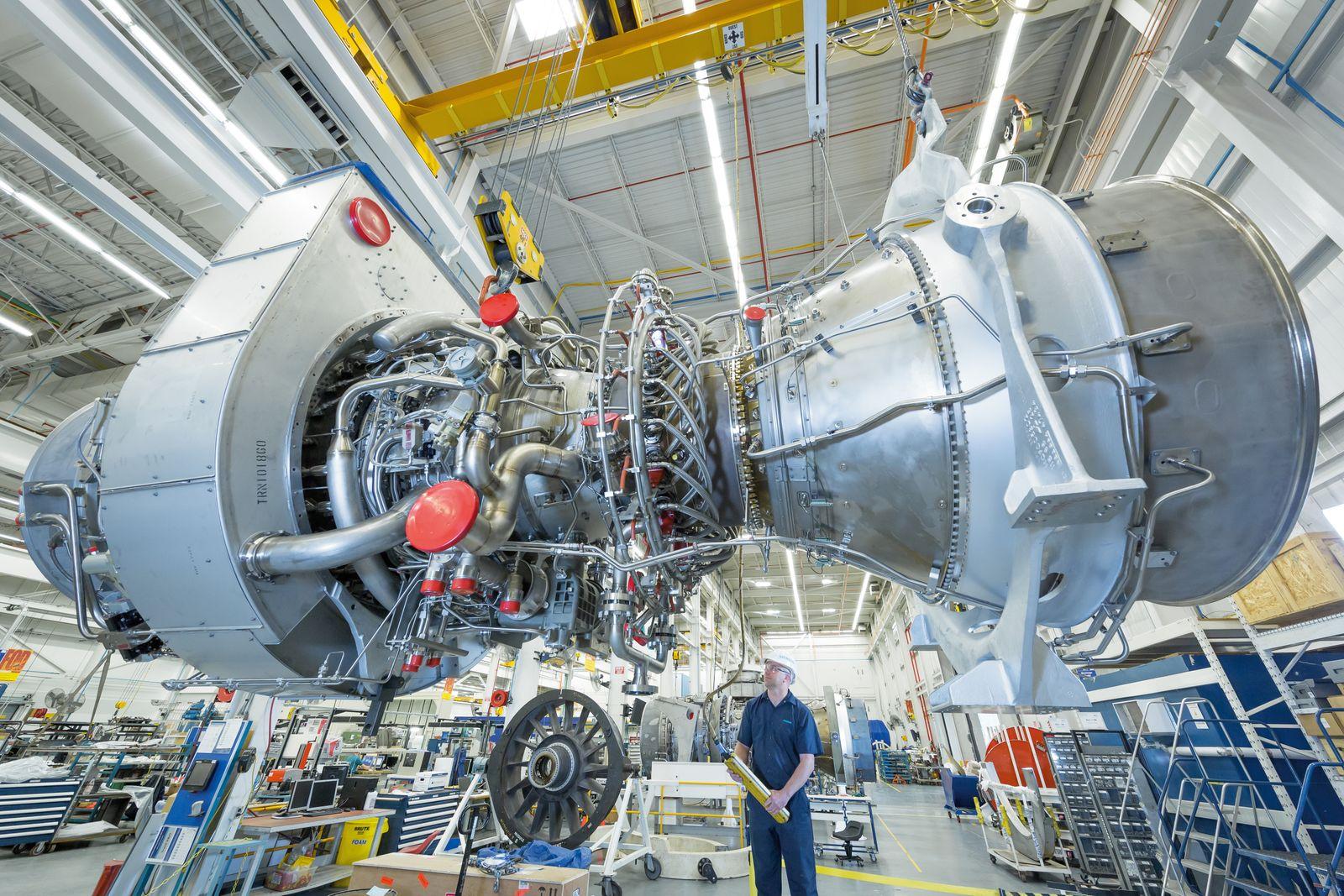Siemens Industrial Trent 60 Gasturbine / Siemens Industrial Trent 60 gas turbine