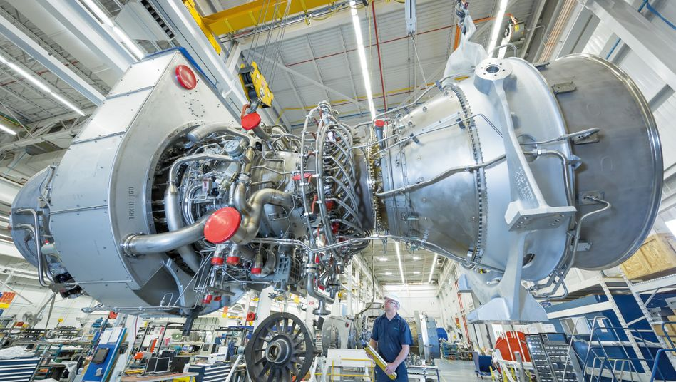 Gasturbine von Siemens (Archivbild vom Dolphin Gas Project)