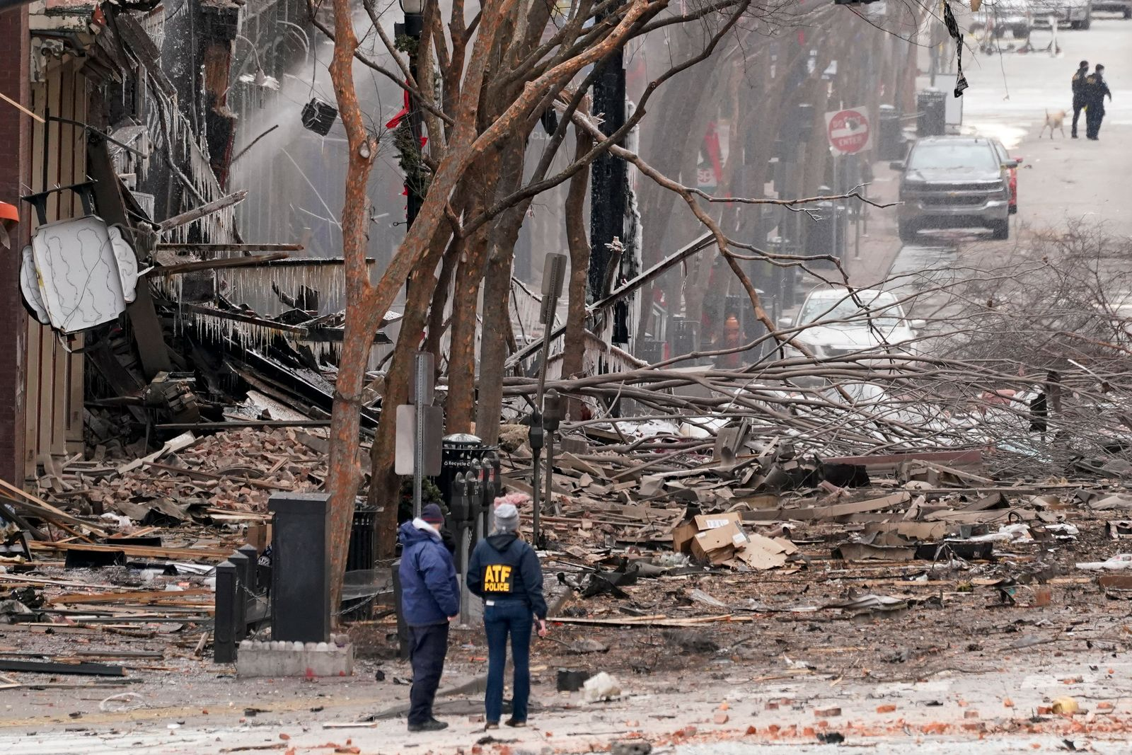 APTOPIX Nashville Explosion