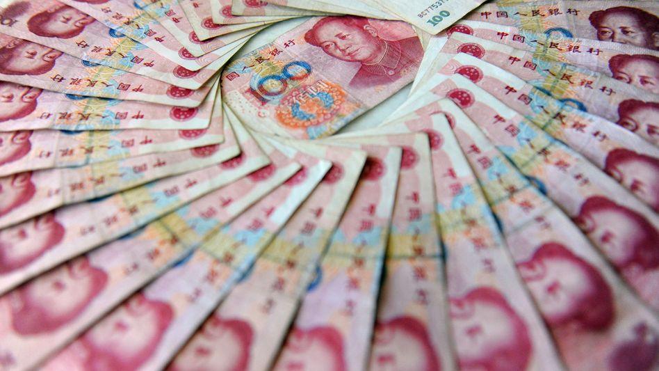 Chinesische Banknoten (Symbolbild)