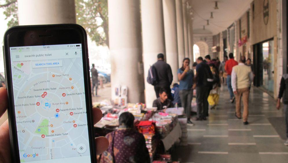 Per App: Toilettensuche in Indien