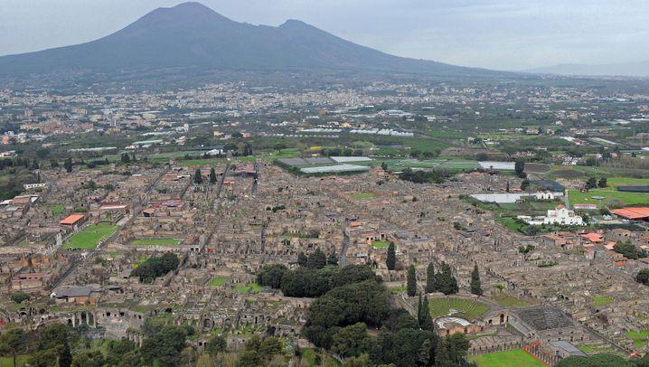 Pompeji: Pferd in Asche