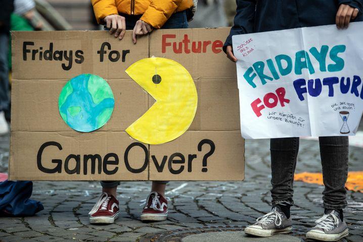 Plakate für den Klimaschutz