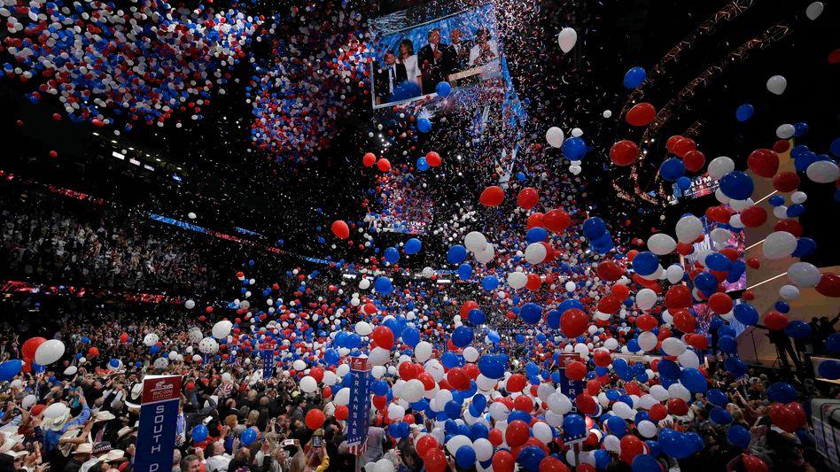 Im Ballonmeer: Finale des Republikaner-Parteitags 2016
