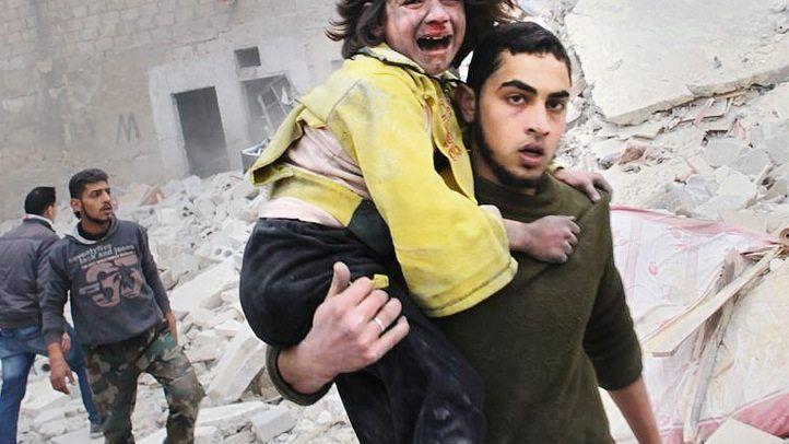 Opfer eines Luftangriffs auf Aleppo: »Was will der Westen?«