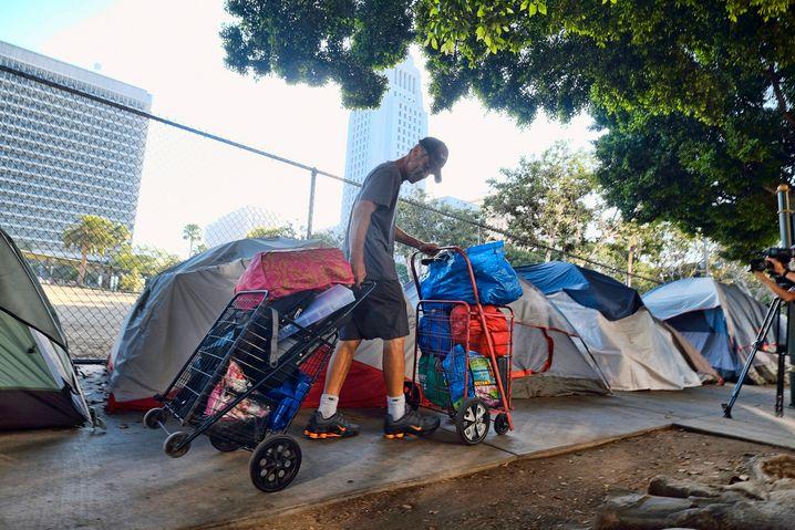 Wie im Horrorfilm: Obdachloser in Los Angeles