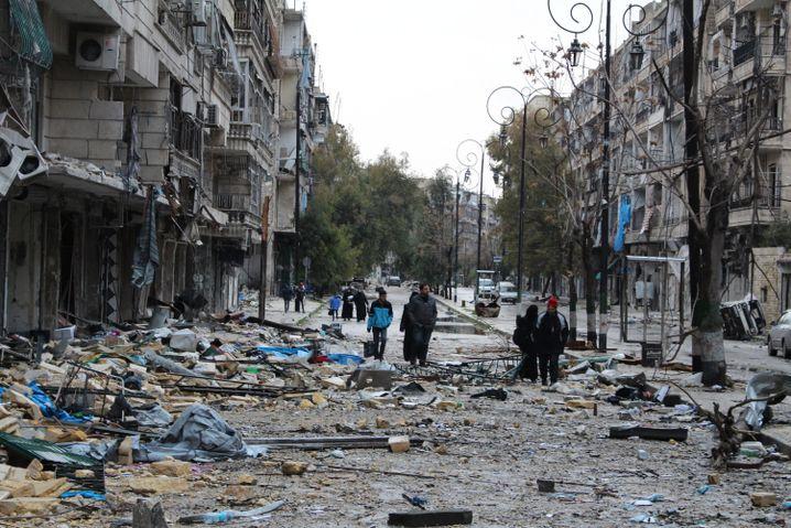 Trümmer in Ost-Aleppo