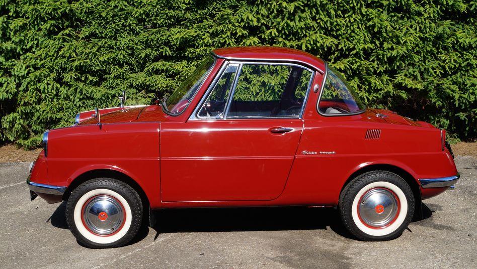 Der Mazda R360 kam 1960 auf den Markt und war der erste Pkw, den die Firma baute. Gegründet worden war das Unternehmen bereits 1920.