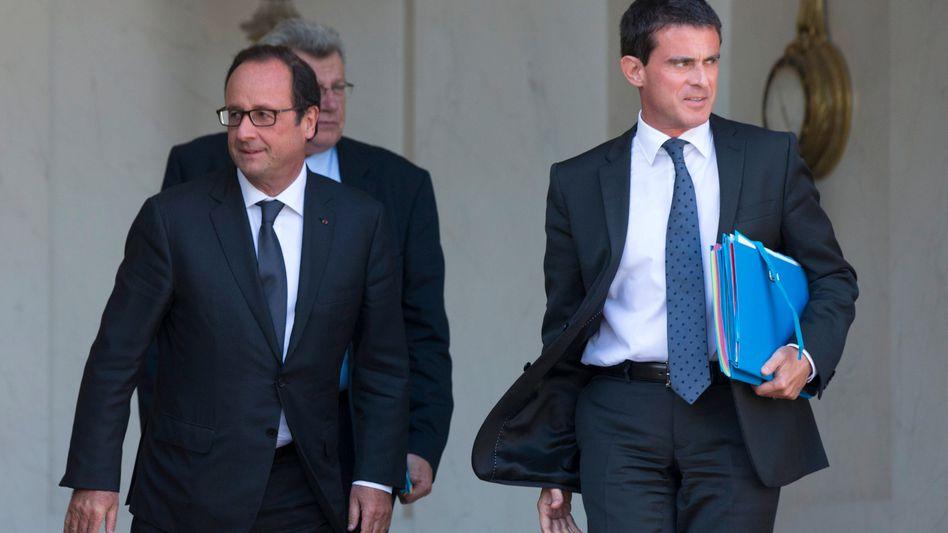 Valls und Frankreichs Präsident Hollande: Schwierige Lage in Paris