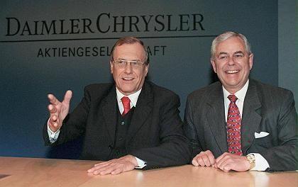 Schrempp (l.), Eaton: Zehn Monate vom ersten Gespräch bis zur DaimlerChrysler AG