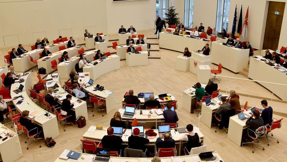 Plenum im Brandenburger Landtag