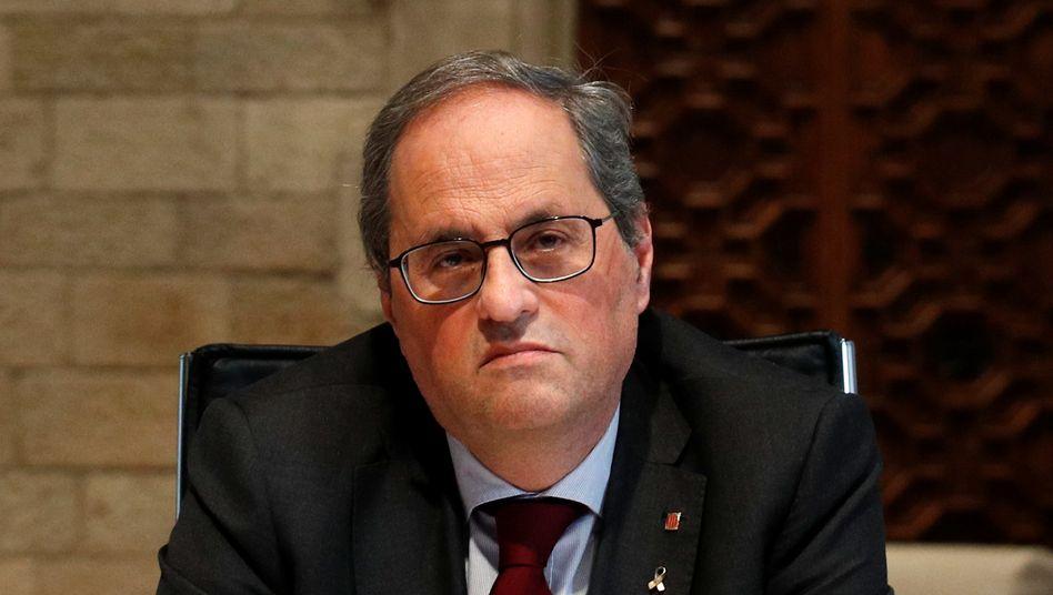 Quim Torra muss sein Amt als katalanischer Regionalpräsident endgültig abtreten