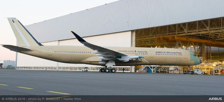 Prototyp des A350-900ULR in Toulouse