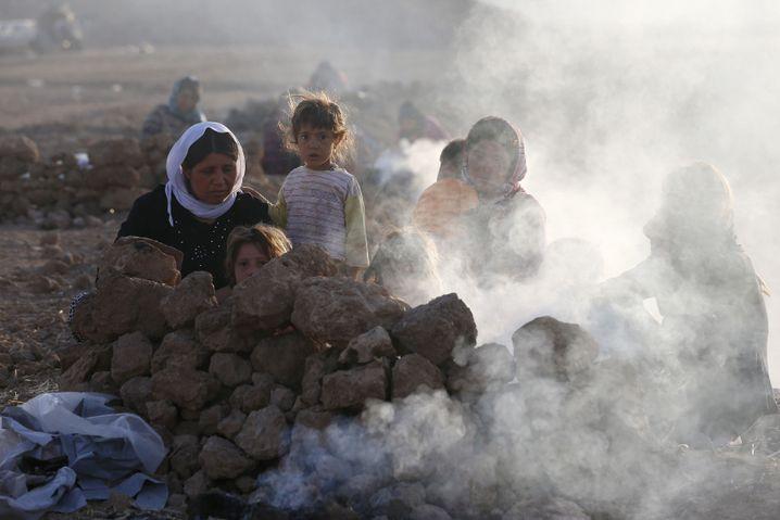 Tee zum Frühstück: Angekommen im Flüchtlingscamp in Bajed Kadal