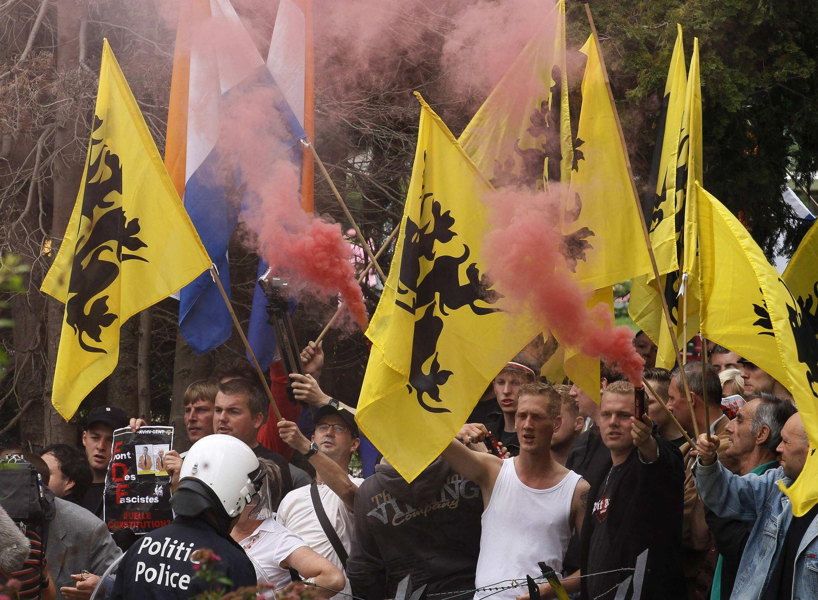 Belgien / Proteste / Flämische Extremisten