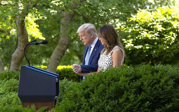 Im Rosengarten des Weißen Hauses, Mai 2020