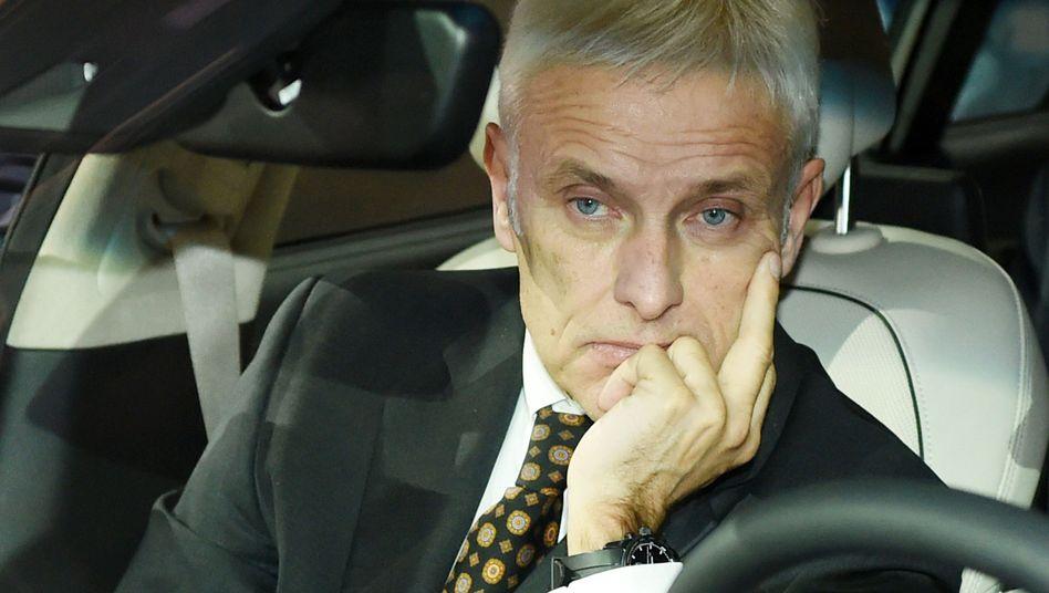 VW-Chef Matthias Müller: Verunglückte Reise in die USA
