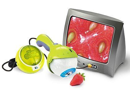 TV-Mikroskop: Das 50 Dollar teure Spielzeug Eyeclops vergrößert die Welt bis zu 200 Mal - auf jedem Fernsehschirm
