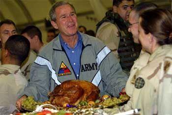 Bush in Bagdad: Thanksgiving auf dem Flughafen