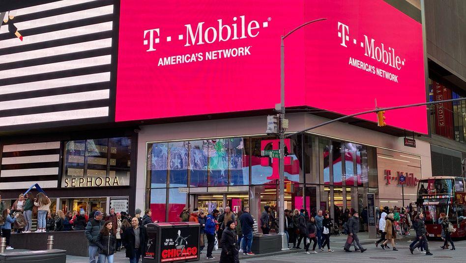 Eine Filiale des Mobilfunkproviders T-Mobile