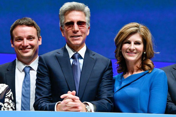 """Scheidender SAP-Chef McDermott (Mitte) mit Christian Klein (l.) und Morgan: """"Bill hat keine Angst vor starken Frauen"""""""