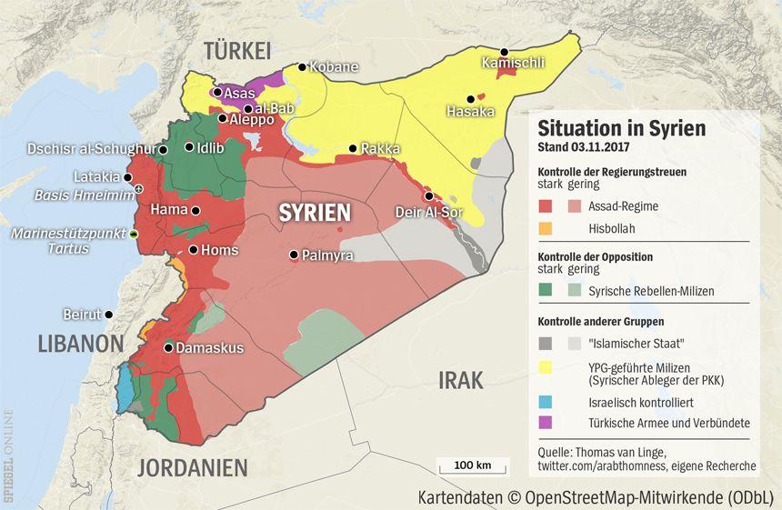Grafik Karte Syrien 03-11-2017 Erweiterung um Marinestützpunkt Tartus und der Basis Hmeimim