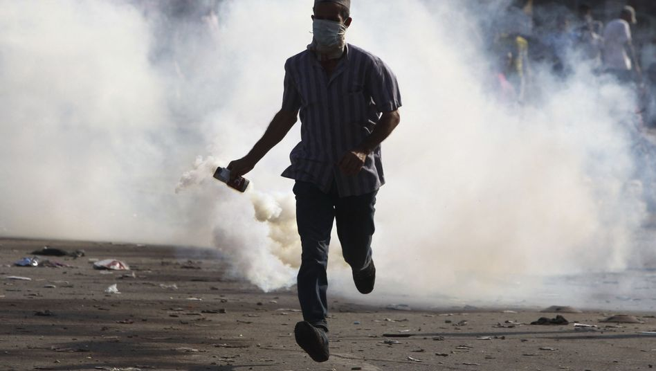 There were clashes between police and protesters in Cairo on Friday.