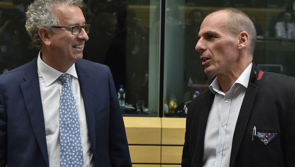 Finanzminister von Luxemburg (l.) und Griechenland: Fortsetzung folgt