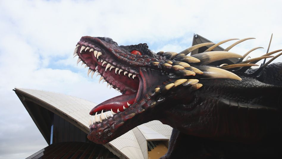 "Drachen-Statue zu ""Game of Thrones"" in Sydney"